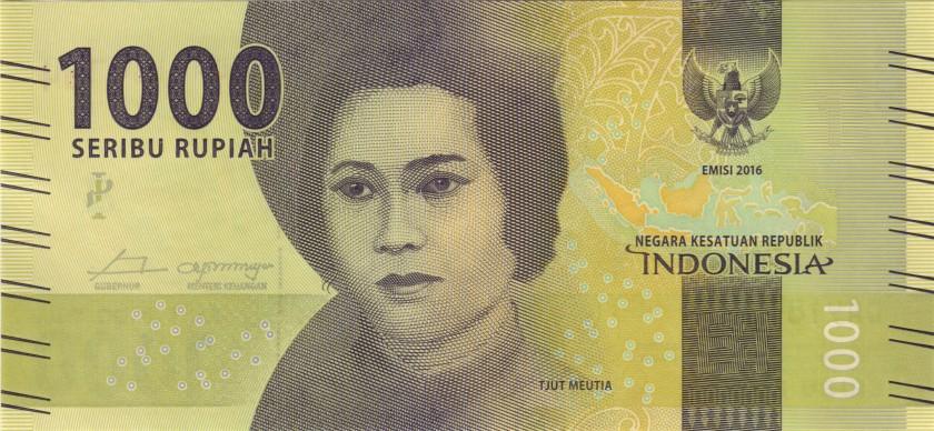 Indonesia P154 1.000 Rupiah 2016/2017 UNC
