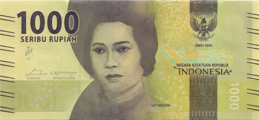 Indonesia P154 REPLACEMENT 1.000 Rupiah 2016/2017 UNC