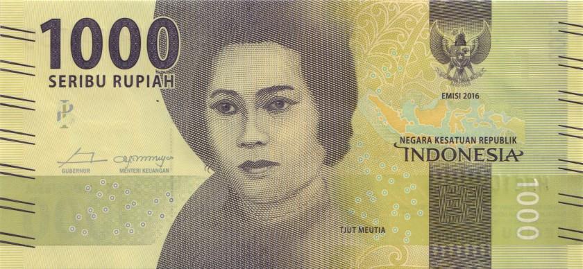 Indonesia P154r REPLACEMENT 1.000 Rupiah 2016/2018 UNC