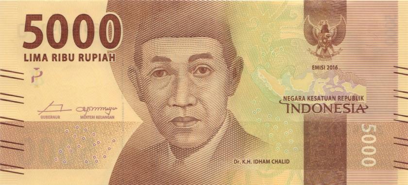 Indonesia P156 5.000 Rupiah 2017 UNC