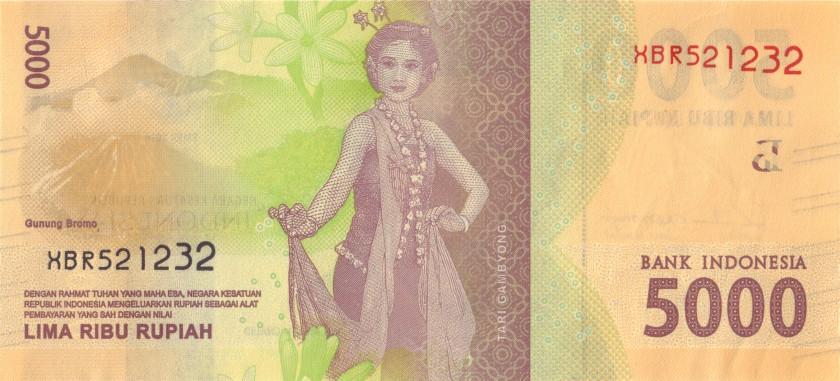 Indonesia P156r REPLACEMENT 5.000 Rupiah 2017 AU