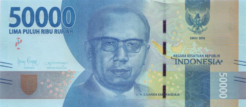Indonesia P159 50.000 Rupiah 2016/2018 UNC