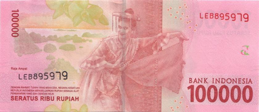 Indonesia P160 100.000 Rupiah 2016/2018 UNC