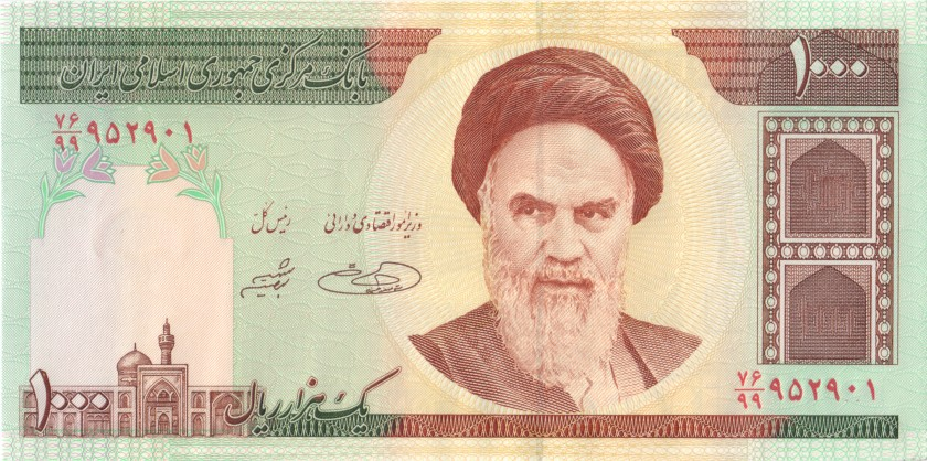 Iran P143dr REPLACEMENT 1.000 Rials 1992 - 2014 UNC
