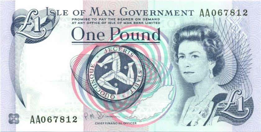 Isle of Man P40c 1 Pound 2009 UNC