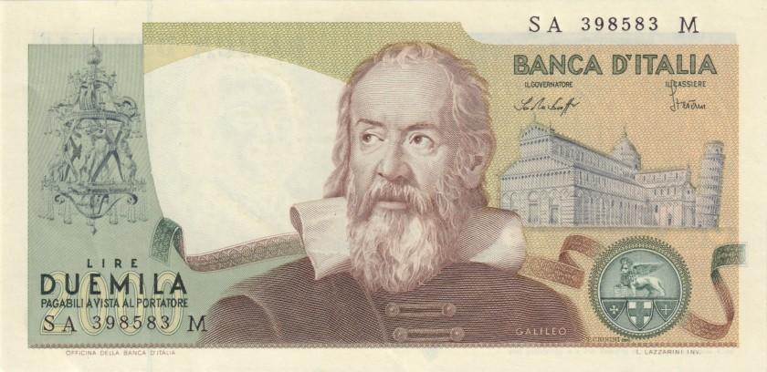 Italy P103b 2.000 Lire 1976 UNC-