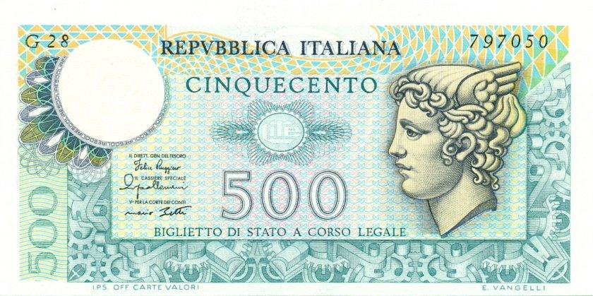 Italy P94 500 Lire 1979 UNC