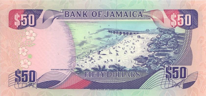 Jamaica P73c 50 Dollars 1995 UNC