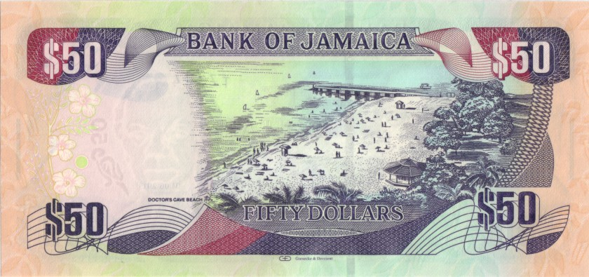 Jamaica P94a 50 Dollars 2013 UNC