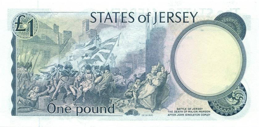 Jersey P11b 1 Pound 1976-1988 UNC