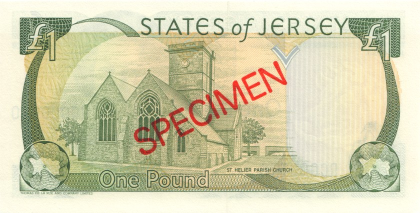 Jersey P20s SPECIMEN 1 Pound 1993 UNC