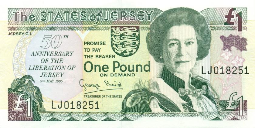 Jersey P25 1 Pound 1995 UNC