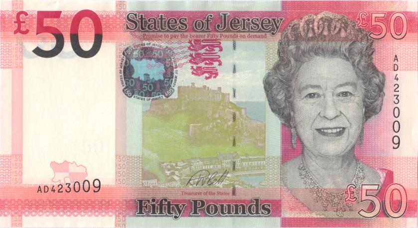 Jersey P36b 50 Pounds 2018 UNC