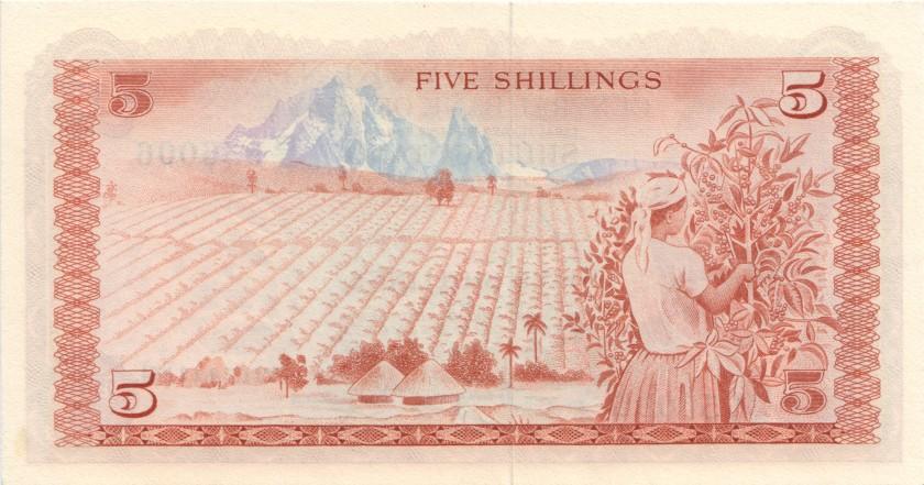 Kenya P11a 5 Shillings 1974 UNC