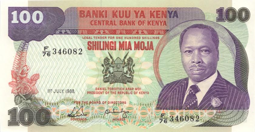 Kenya P23f 100 Shillings 1988 UNC