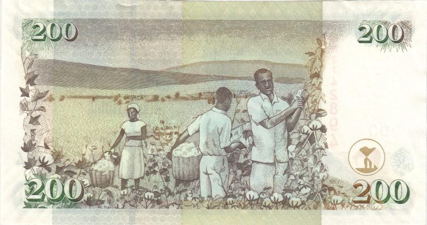 Kenya P49b 200 Shillings 2006 UNC