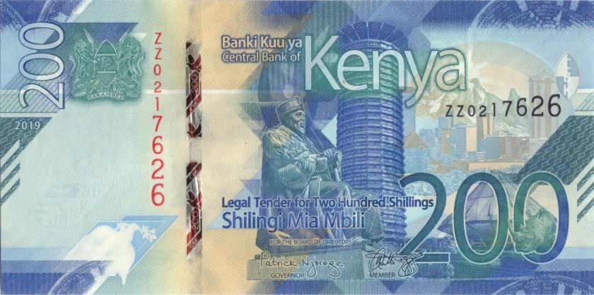 Kenya P-NEW REPLACEMENT 200 Shillings 2019 UNC