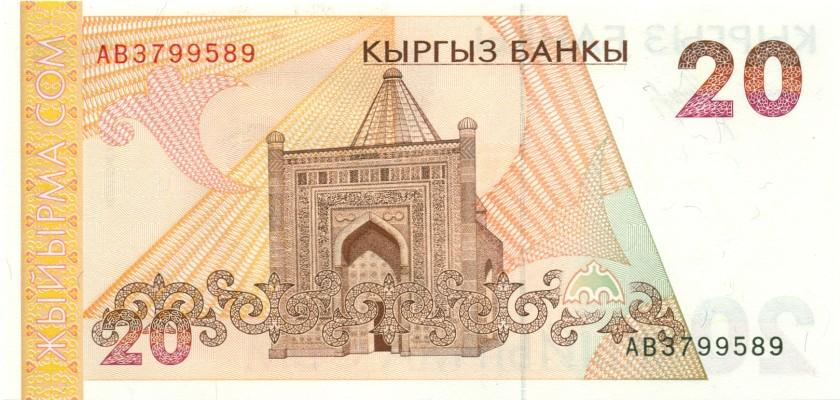 Kyrgyzstan P10 20 Som 1994 UNC