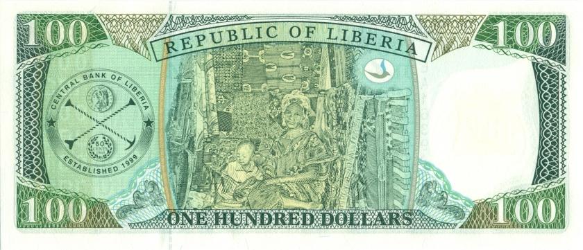 Liberia P25 100 Dollars 1999 UNC