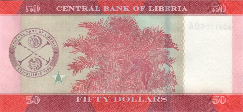 Liberia P31a, 32b, 33b, 34b, 35b, 36b 5 banknotes 2016 - 2017 UNC