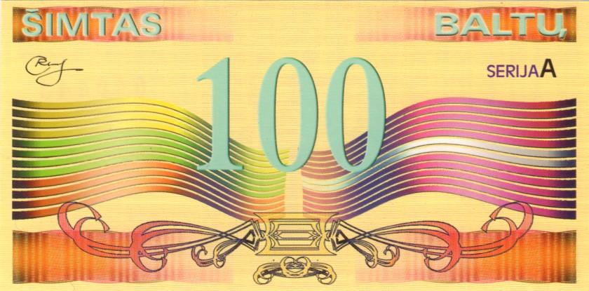 Lithuania PNL 1, 3, 5, 20, 50, 100 Baltai 6 banknotes 2002 UNC