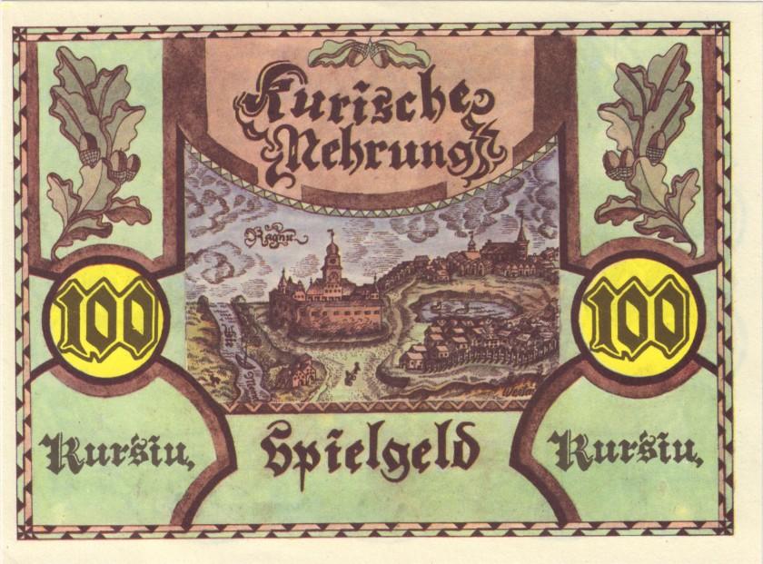 Lithuania PNL 0.1, 0.5, 1, 2, 5, 10, 50, 100 Kursiai 8 banknotes UNC