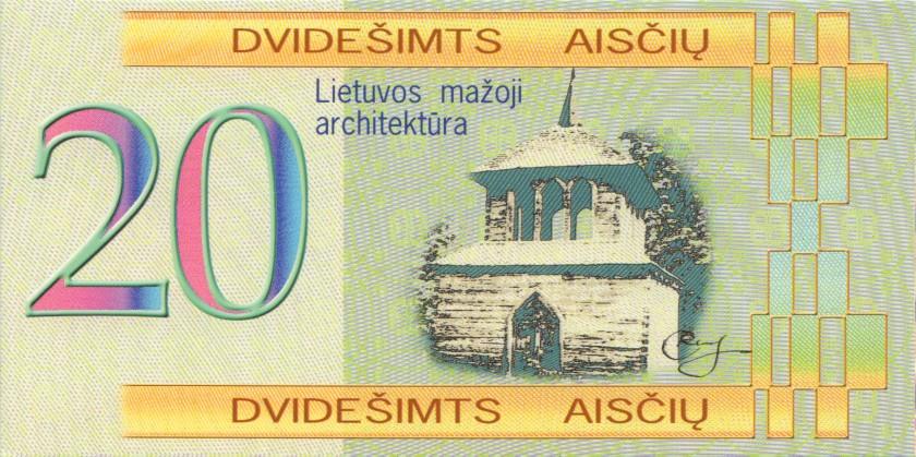 Lithuania PNL 1, 2, 5, 20, 50, 100 Aisciu 2002 UNC