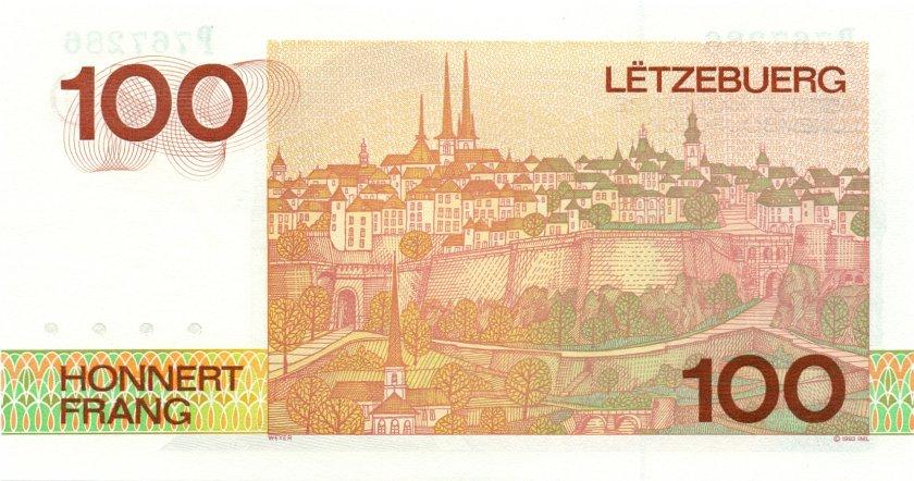 Luxembourg P58b 100 Francs 1993 (1986) UNC