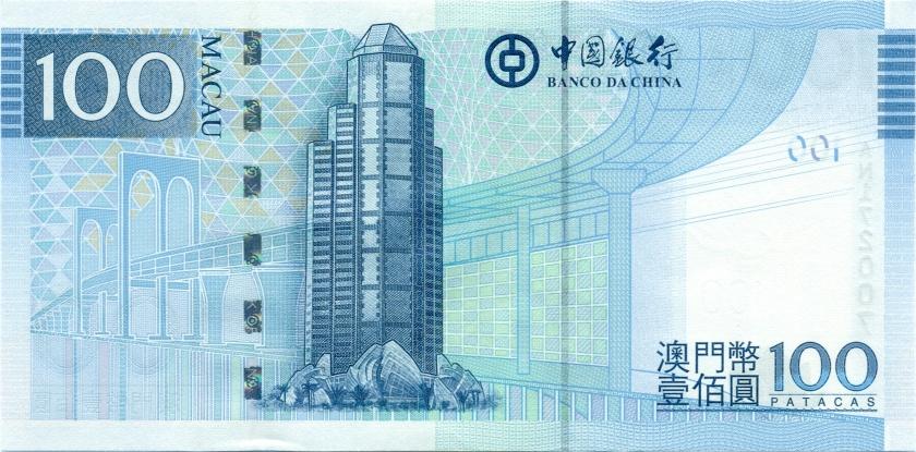 Macau P111b 100 Patacas 2013 UNC