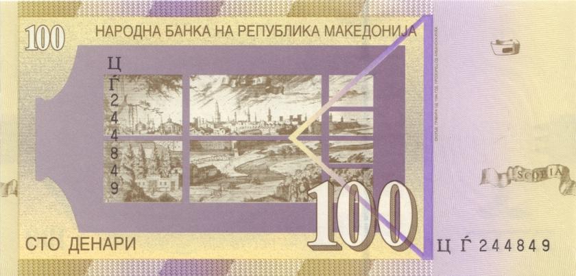 Macedonia P16h 100 Denars 2008 UNC