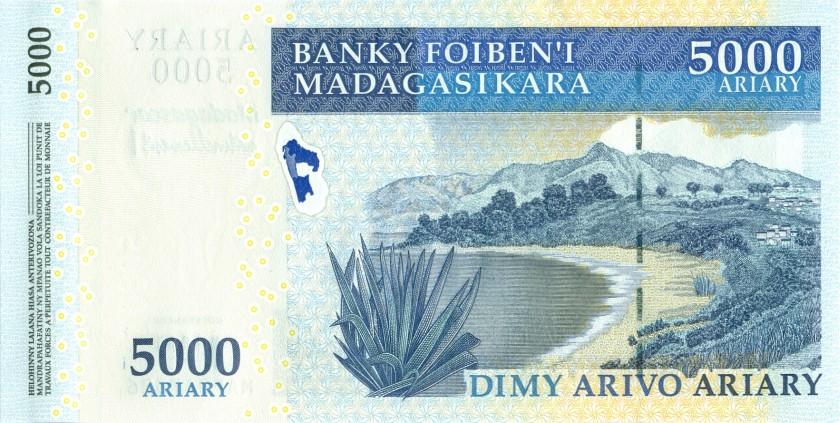 Madagascar P94 5.000 Ariary 2008 UNC