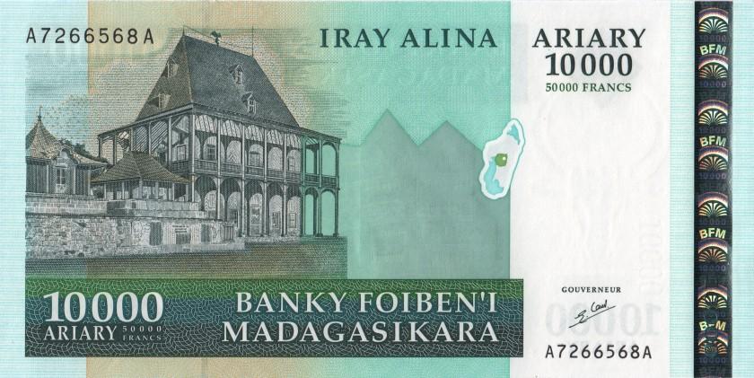 Madagascar P85 50.000 Francs (10.000 Ariary) 2003 UNC