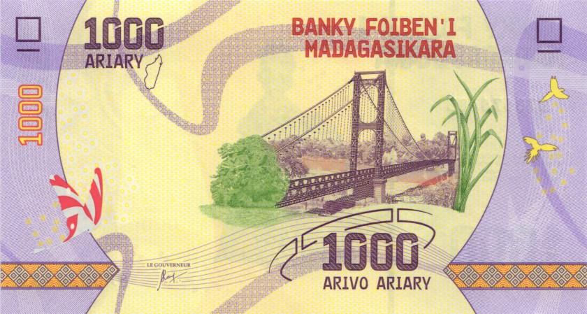 Madagascar P-NEW 1.000 Ariary 2017 UNC
