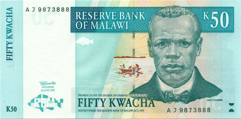 Malawi P39 50 Kwacha 1997 UNC
