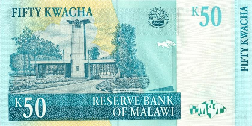 Malawi P45a 50 Kwacha 2001 UNC