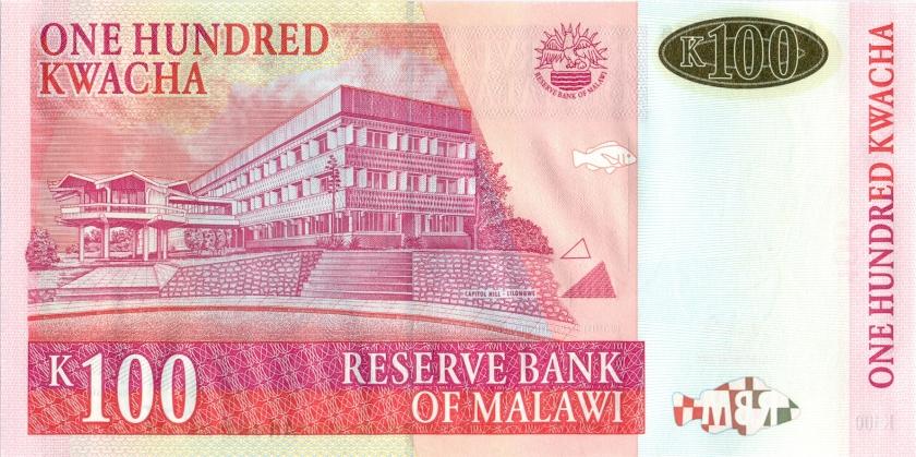 Malawi P46a 100 Kwacha 2001 UNC