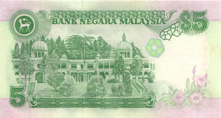 Malaysia P28c 5 Ringgit 1991 UNC