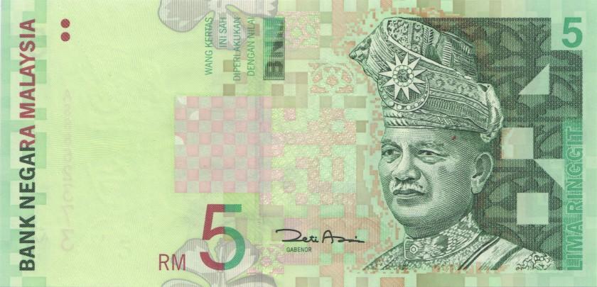 Malaysia P41b 5 Ringgit 2001 UNC