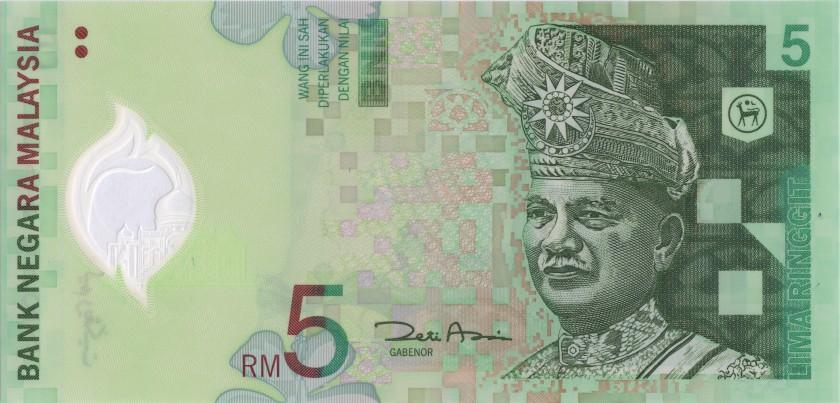 Malaysia P47a 5 Ringgit 2004 UNC