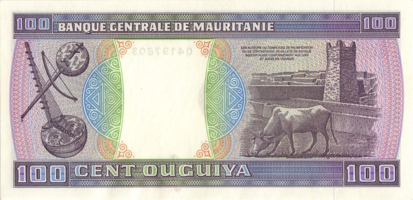 Mauritania P4a(1) 100 Ouguiya 1974 UNC