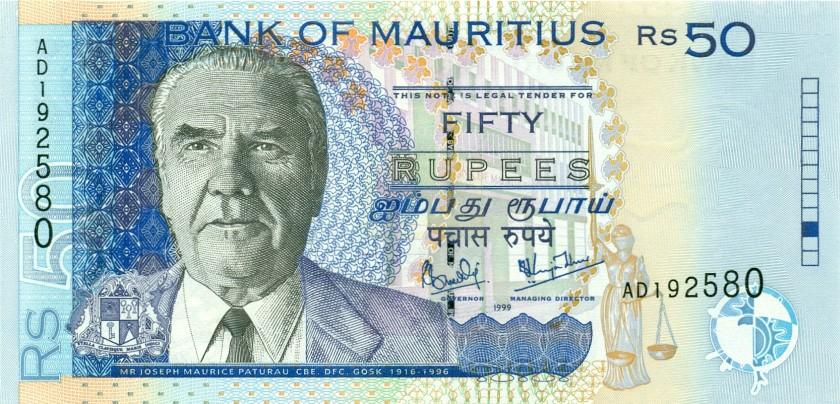 Mauritius P50a 50 Rupees 1999 UNC