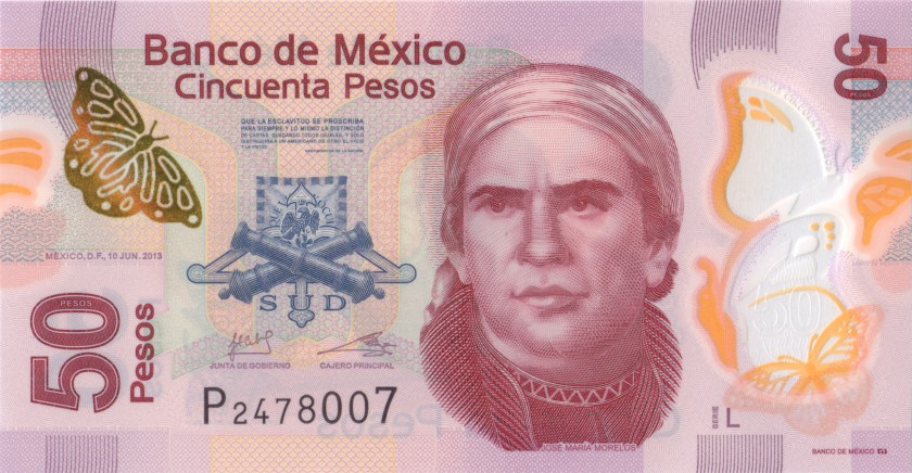 Mexico P123AdL 50 Pesos 2013 UNC