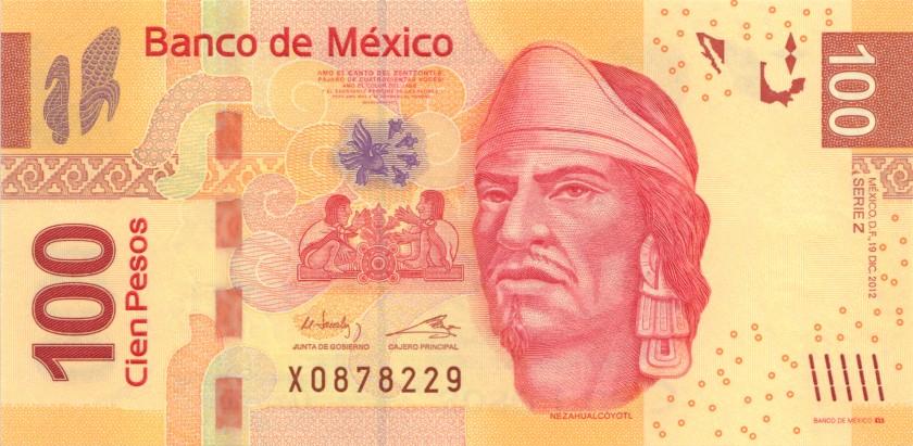 Mexico P124gZ 100 Pesos 2012 UNC