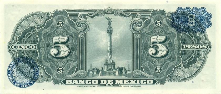 Mexico P34k 5 Pesos 1949 UNC