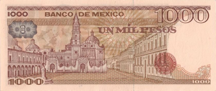 Mexico P80a 1.000 Pesos Series UE 1983 UNC