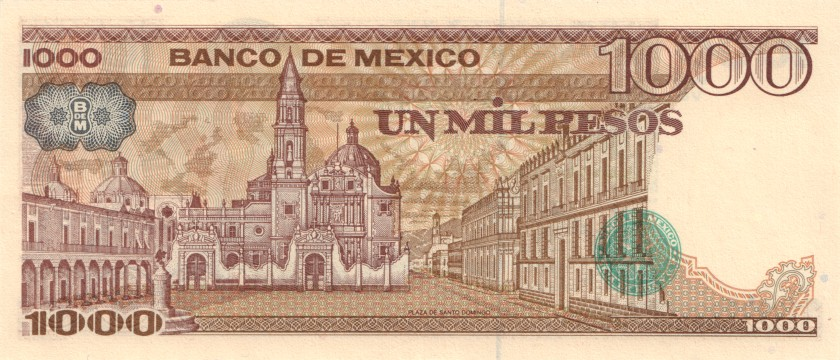 Mexico P80b 1.000 Pesos Series VE 1984 UNC
