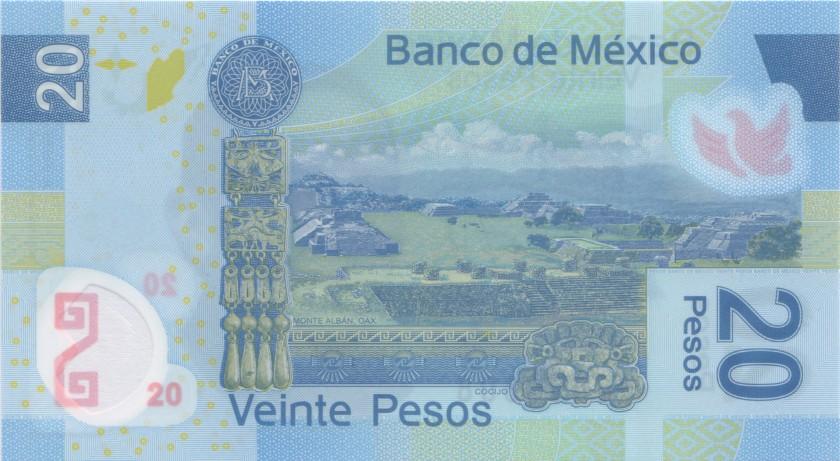 Mexico P122mX 20 Pesos Serie X 2013 UNC