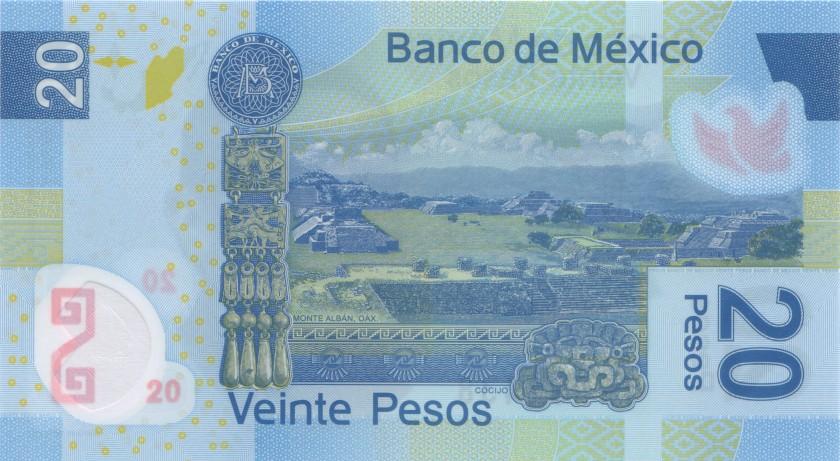 Mexico P122nY 20 Pesos Serie Y 2016 UNC