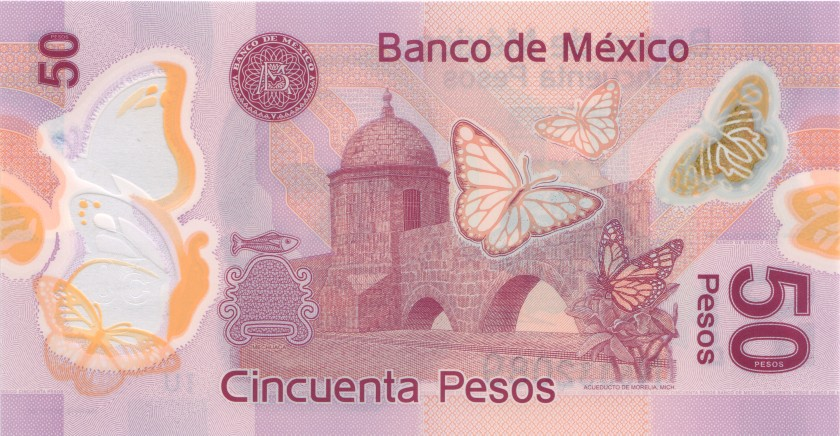 Mexico P-NEW 50 Pesos Prefix U 2016 UNC