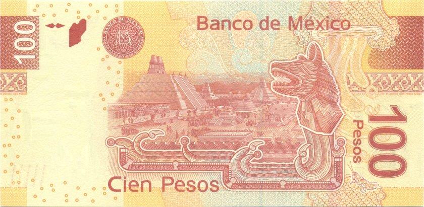 Mexico P124dL 100 Pesos 2010 UNC